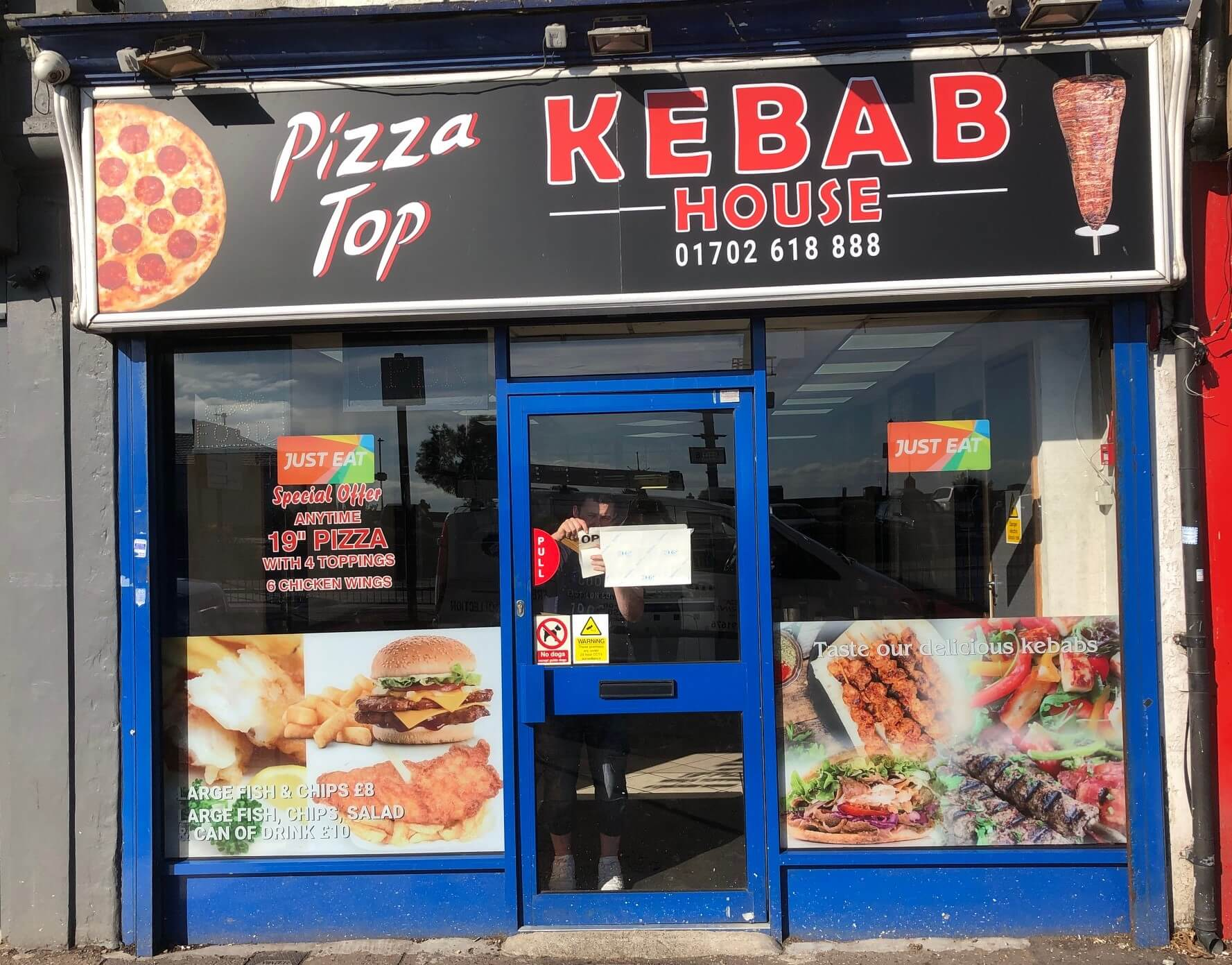Kebab House sign + window