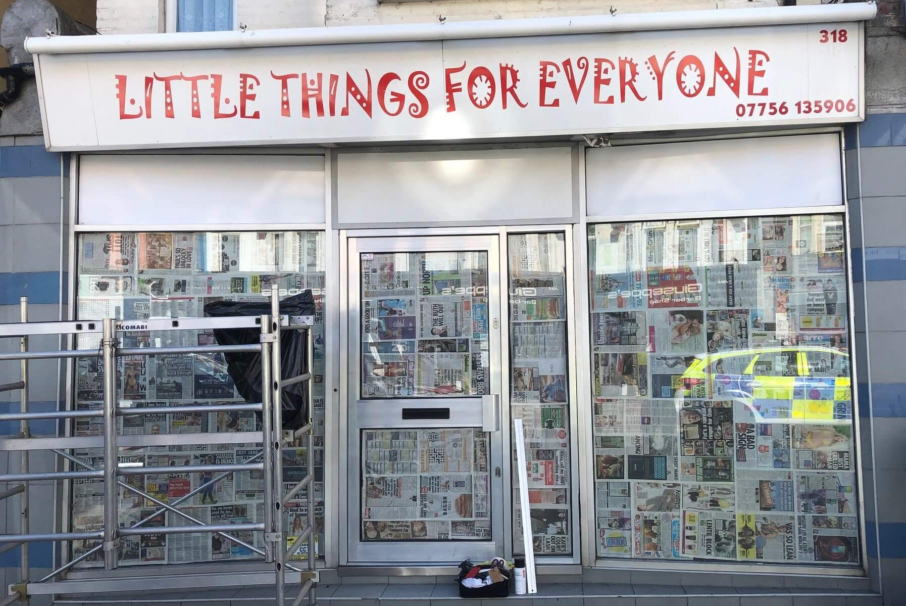 Little Things shop sign