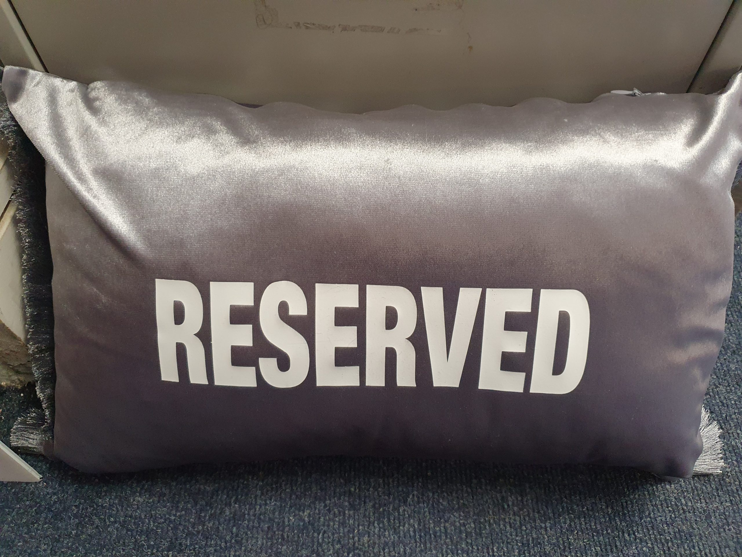 reserved cushion