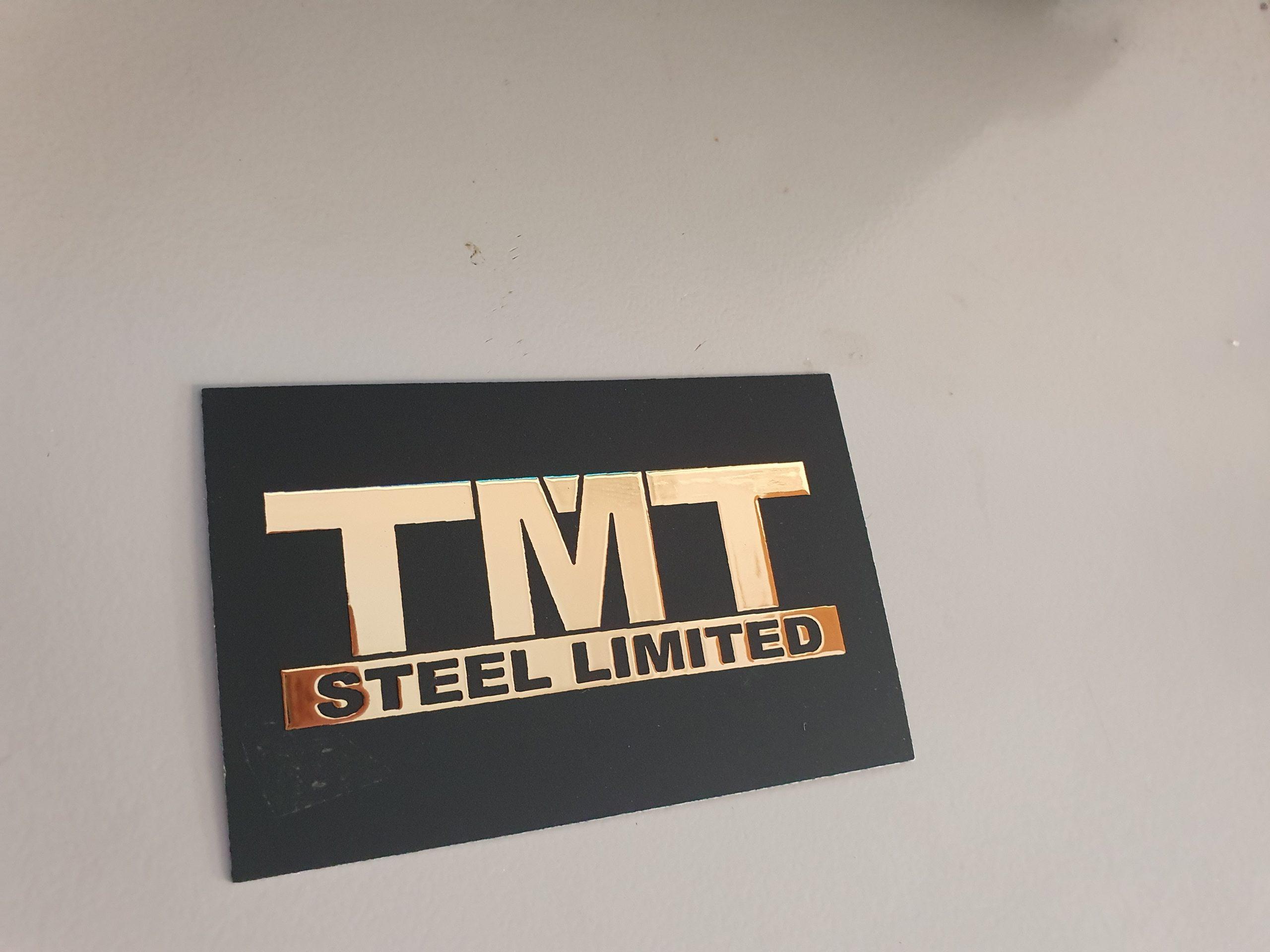 TMT gold foil business card