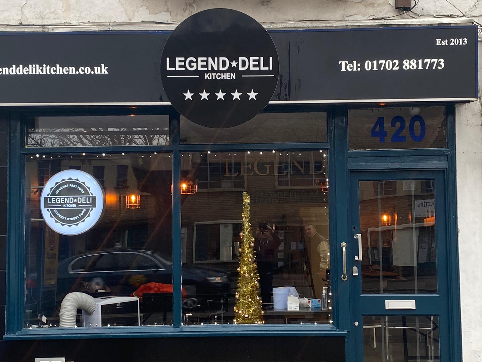 Legend Deli shop sign